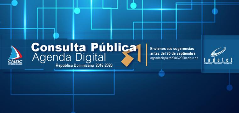 Planificación Consultas Publicas Agenda Digital RD 2016-2030